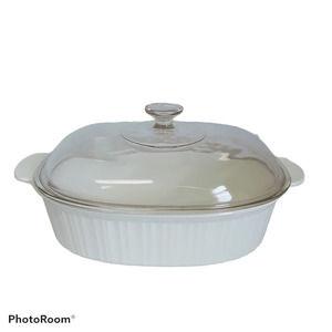 Corning Ware 4L French White Roasting Pan w/ Lid